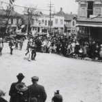"""Liberty Day 1918"" Thomas Norris, dressed as Uncle Sam, leads the Liberty Day Parade through downtown Delphos."