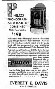 1930 Philco Radio Ad